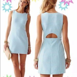 Lilly Pulitzer Shorely Blue Ottoman Stripe Dress